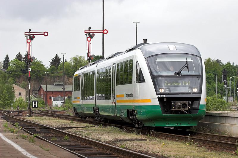 VT01 Plauen 7/5/2006<br /> VBG12956 1131 Marianske Lazne-Zwickau Hbf