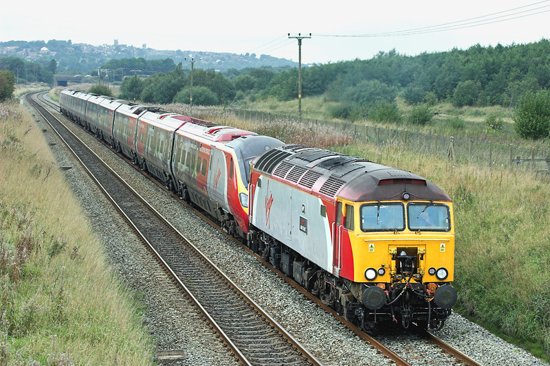 57305 and 390029, Horwich Parkway 17/9/2006<br /> 1A43 1213 Preston-London Euston
