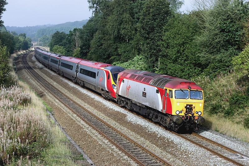 57301 and 390038, Heaton 17/9/2006<br /> 1A32 1014 Preston-London Euston