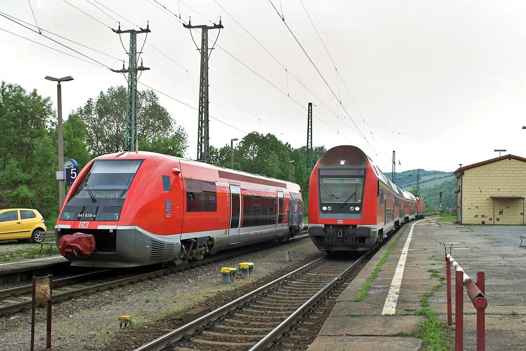 641029 and 143124 (on rear), Großheringen 18/5/2006<br /> 641029: RB16084 1424 Großheringen-Straßfurt<br /> 143124: RB16329 1421 Großheringen-Saalfeld