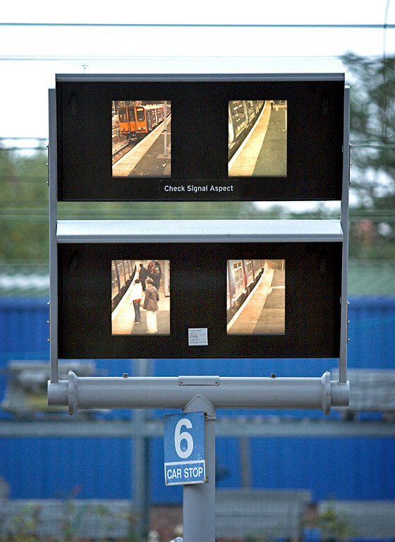 Drivers CCTV view of 313043 and 313055 at Harringay, 18/10/2006