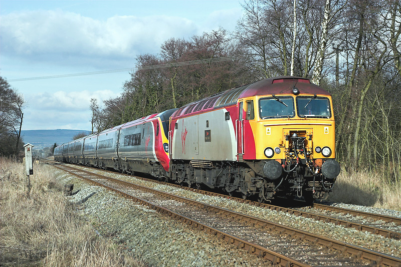 57302 and 390043, Barrow 19/2/2006<br /> 1A54 1151 Carlisle-London Euston