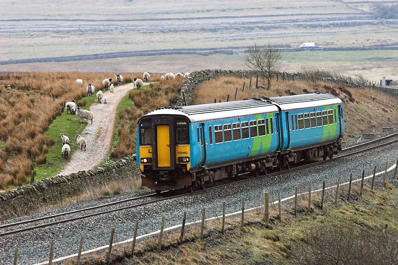156463 Blea Moor 20/4/2006<br /> 2H86 1049 Leeds-Carlisle