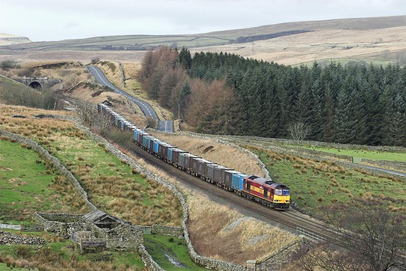 60003 Shotlock Hill 21/1/2006<br /> 6E13 1245 Newbiggin-Ferrybridge PS