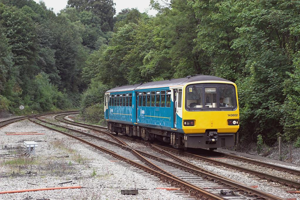 143602 Radyr 21/8/2006<br /> 2Y39 1139 Pontypridd-Barry Island