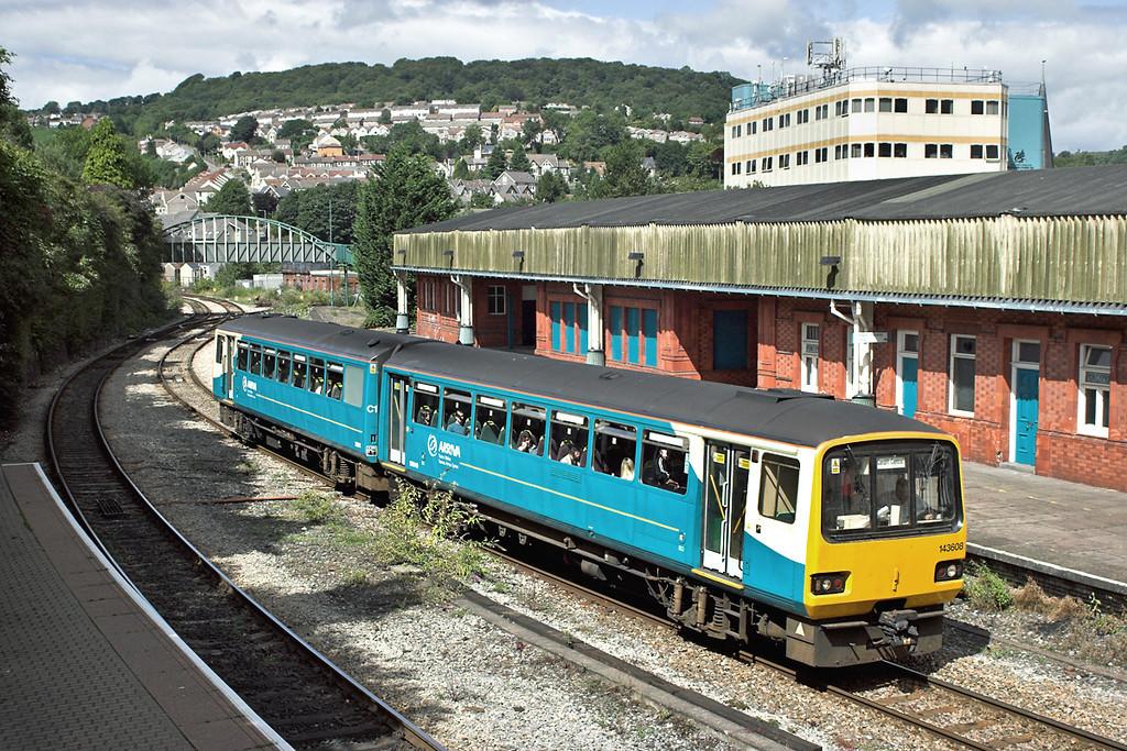 143608 Pontypridd 21/8/2006<br /> 2F44 1317 Treherbet-Cardiff Central
