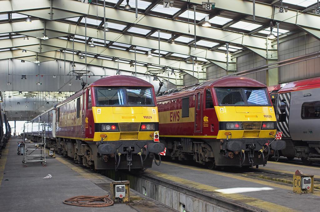90039 and 90028, Polmadie TMD 22/9/2006