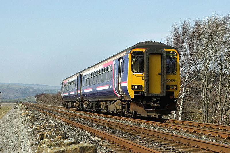 156466 Cartmel Sands 23/3/2006<br /> 2C54 1256 Barrow in Furness-Lancaster