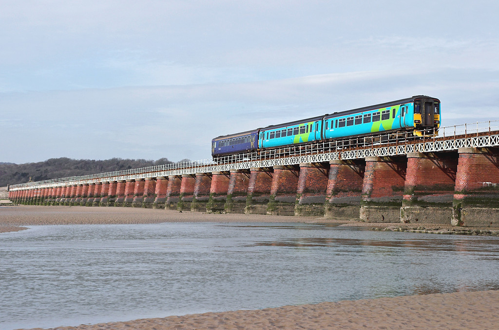156483 and 153358, Arnside 23/3/2006<br /> 2C91 1006 Preston-Carlisle