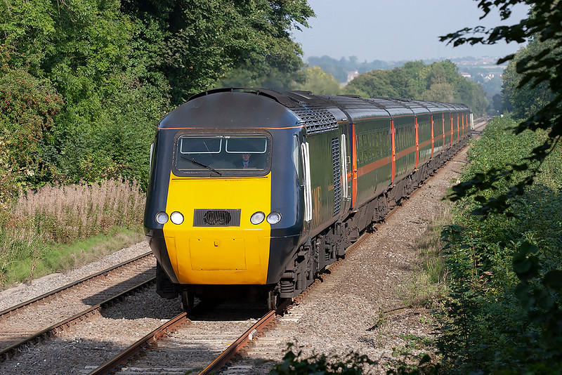 43116 and 43039, Wylam 23/9/2006<br /> 1F27 1527 Newcastle-Aberdeen