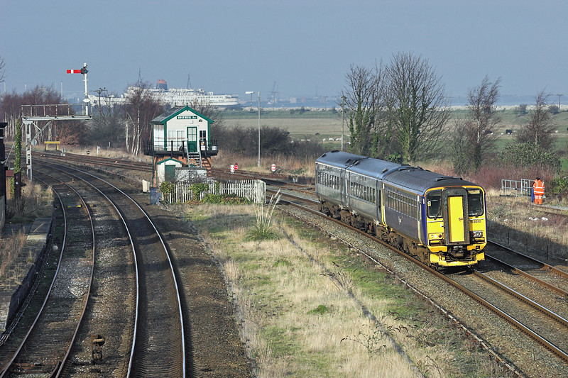 153310 and 158823, Holywell Junction 24/1/2006<br /> 1K13 0928 Holyhead-Crewe