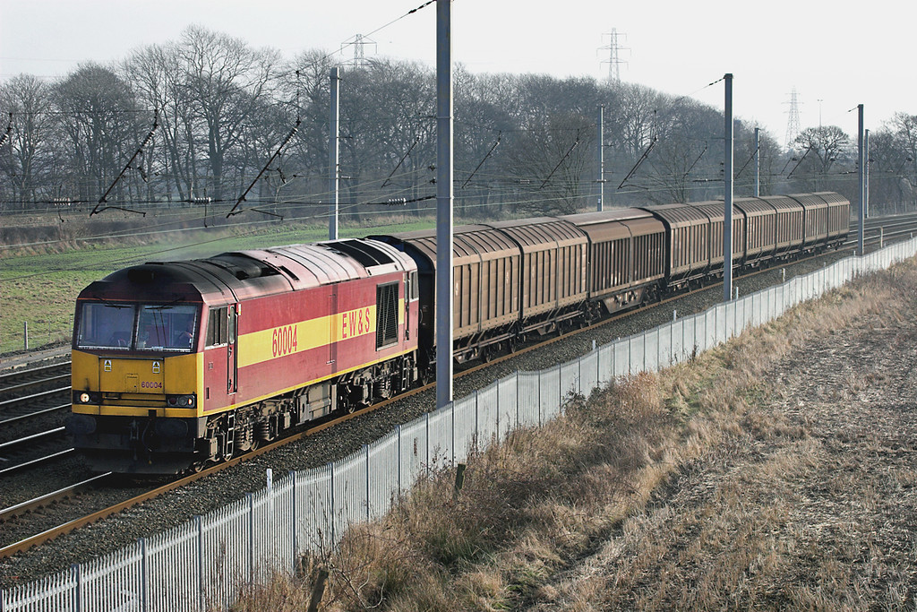 60004 Winwick Junction 24/1/2006<br /> 6E33 1053 Knowsley-Immingham