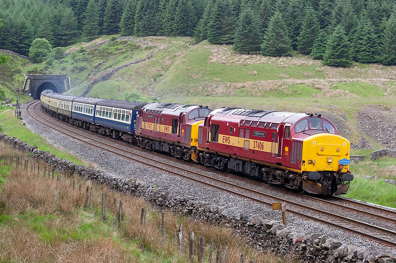 37406 and 37417, Denthead 24/6/2006<br /> 1Z50 0700 Liverpool Lime Street-Carlisle