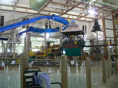 View of some of the tubes.  The wave pool is behind the netting in the foreground.