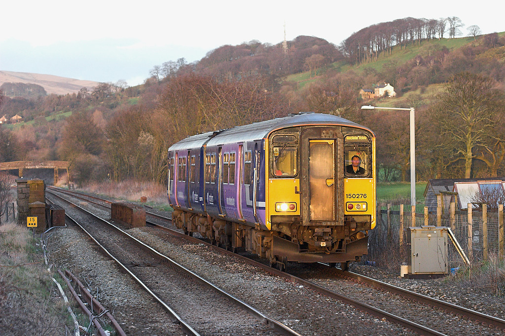 150276 Langho 1/3/2007<br /> 2J52 1712 Clitheroe-Manchester Victoria