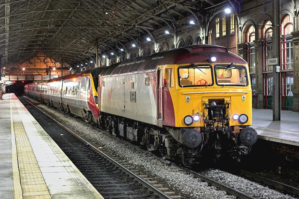 57312 and 390045, Preston 1/3/2007<br /> 1C25 1946 London Euston-Carlisle