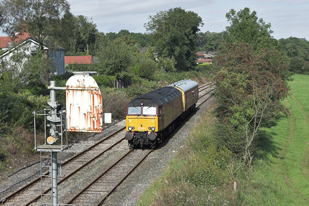57601 Horrocksford Junction 4/9/2007<br /> 2Z08 0748 Preston-Buxton<br /> (via Barrow in Furness, Carlisle, Blackburn, Manchester Victoria)
