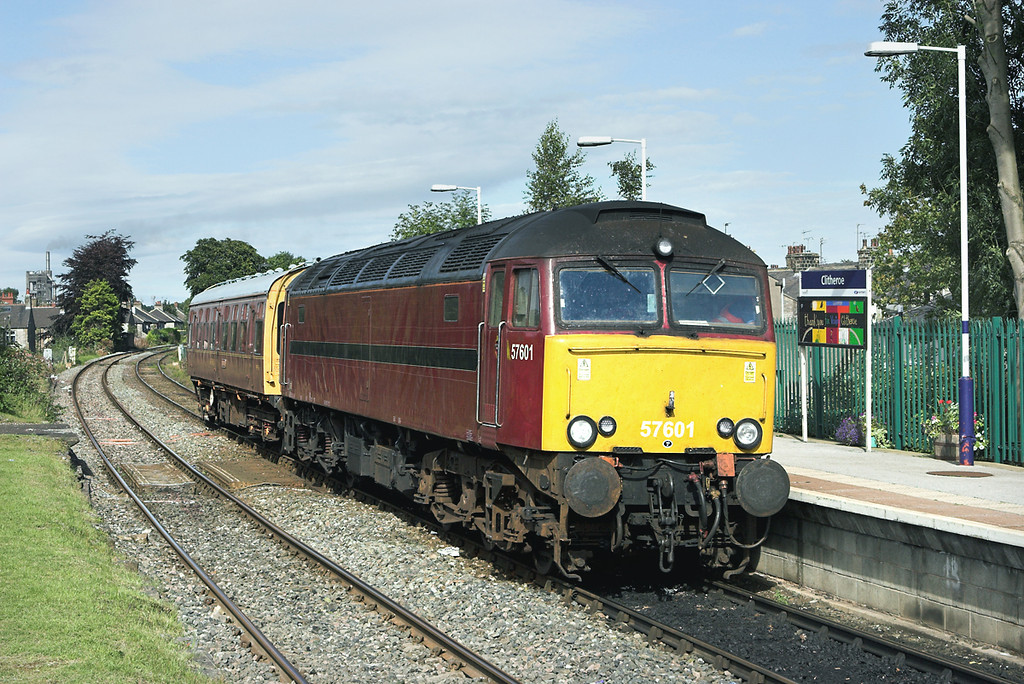 57601 Clitheroe 4/9/2007<br /> 2Z08 0748 Preston-Buxton<br /> (via Barrow in Furness, Carlisle, Blackburn, Manchester Victoria)