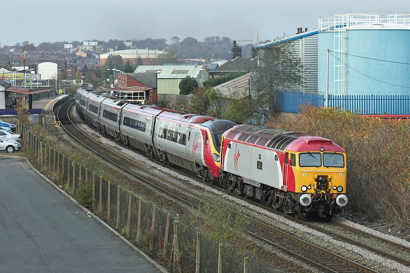 57310 and 390001, Chorley 4/11/2007<br /> 1M14 1120 Glasgow Central-London Euston