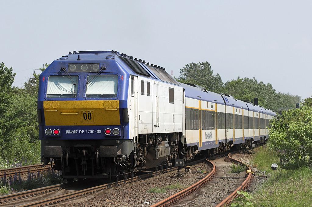 DE2700-08 Morsum 7/6/2007<br /> NOB80539 1352 Westerland-Hamburg Altona