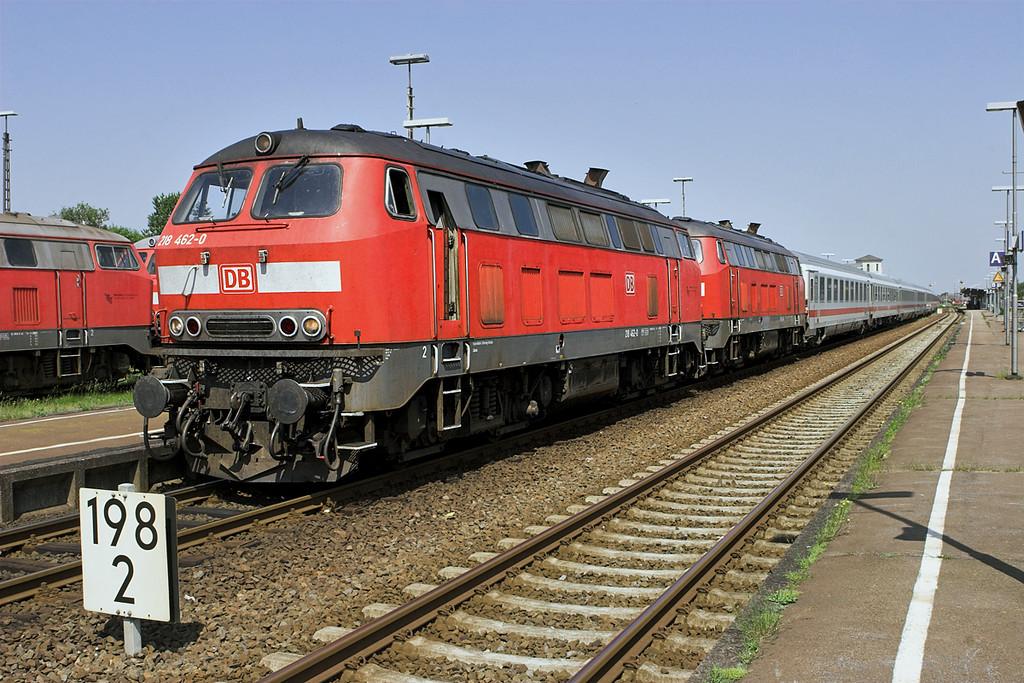 218462 and 218494, Niebüll 7/6/2007<br /> IC2181 1156 Westerland-Göttingen