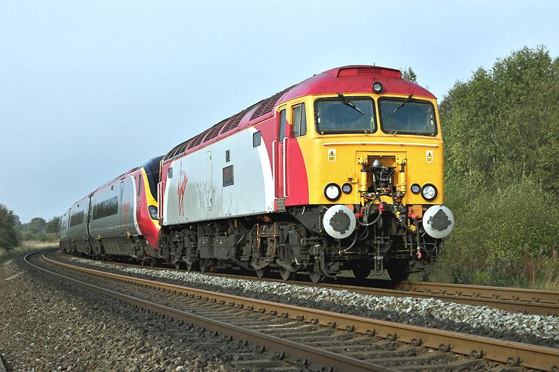 57312 and 390026, Lostock 7/10/2007<br /> 1A32 0944 Preston-London Euston