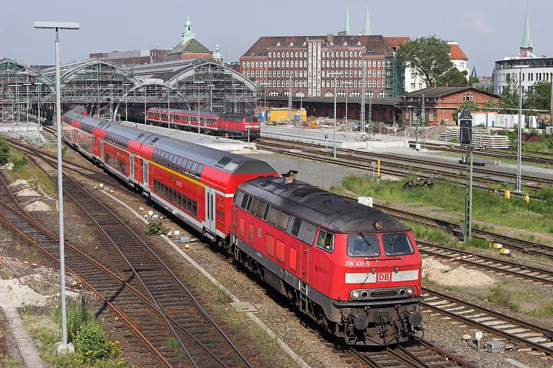 218431 Lübeck 8/6/2007<br /> RE21427 1705 Lübeck Hbf-Hamburg Hbf