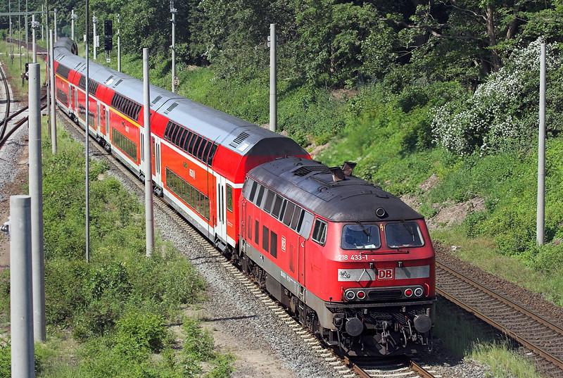 218433 Ahrensburg 8/6/2007<br /> RE21419 1305 Lübeck Hbf-Hamburg Hbf
