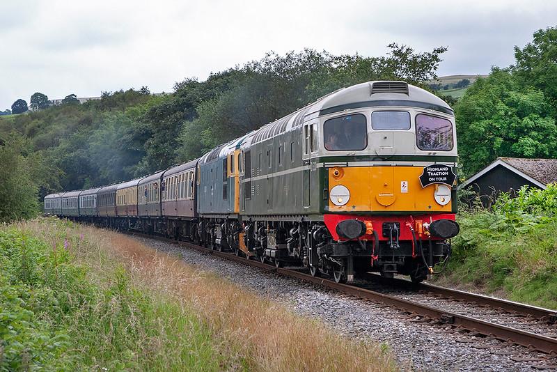 D5310 (26010) and 26024, Irwell Vale 8/7/2007<br /> 1J71 1115 Heywood-Rawtenstall
