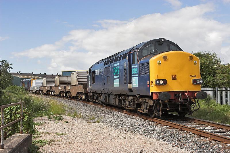 37038 and 20302, Morecambe 8/8/2007<br /> 6C51 1237 Sellafield-Heysham