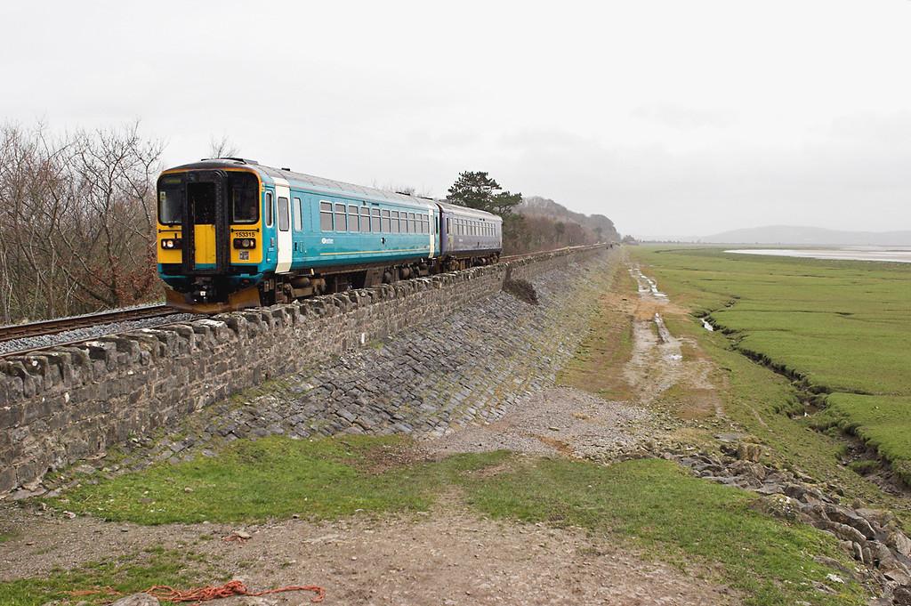 153315 and 153363, Grange-over-Sands 10/3/2007<br /> 2C33 1100 Lancaster-Carlisle