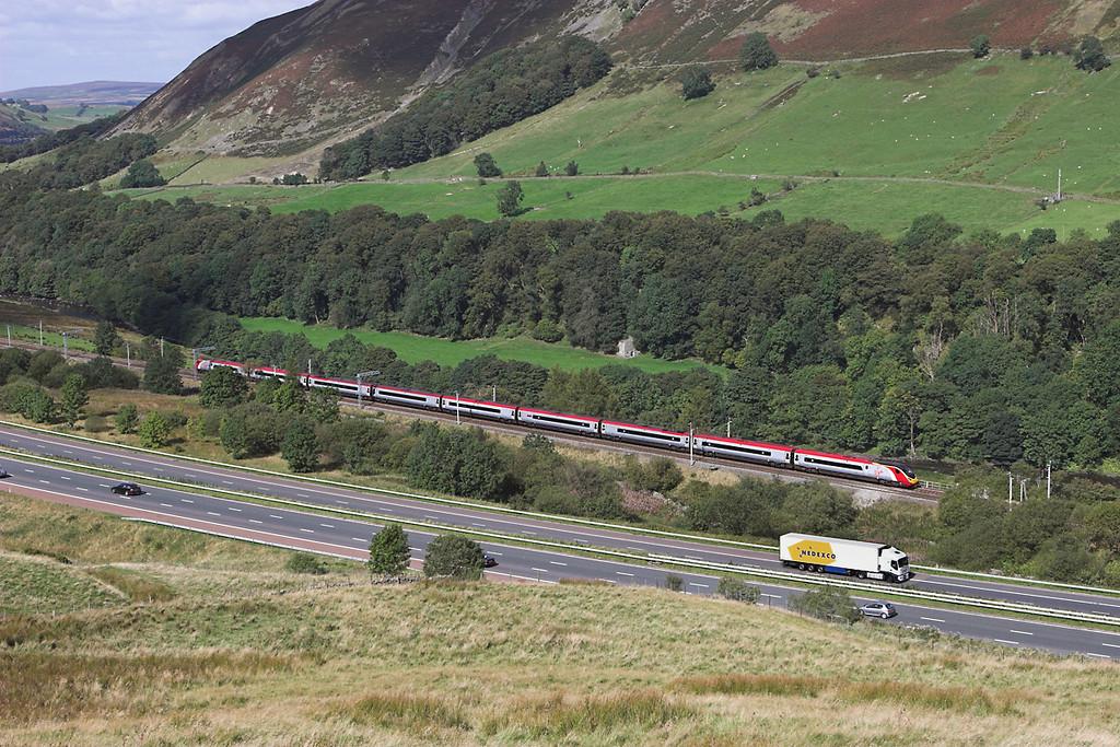 390021 Lune Gorge 10/9/2007<br /> 1M67 1249 Glasgow Central-London Euston