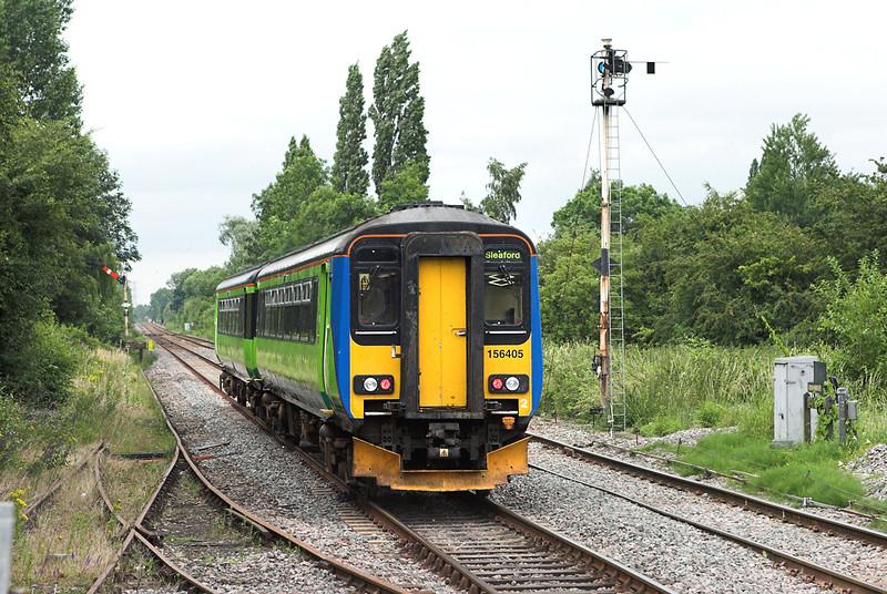 156405 Lowdham 11/7/2007<br /> 2E71 1535 Leicester-Sleaford
