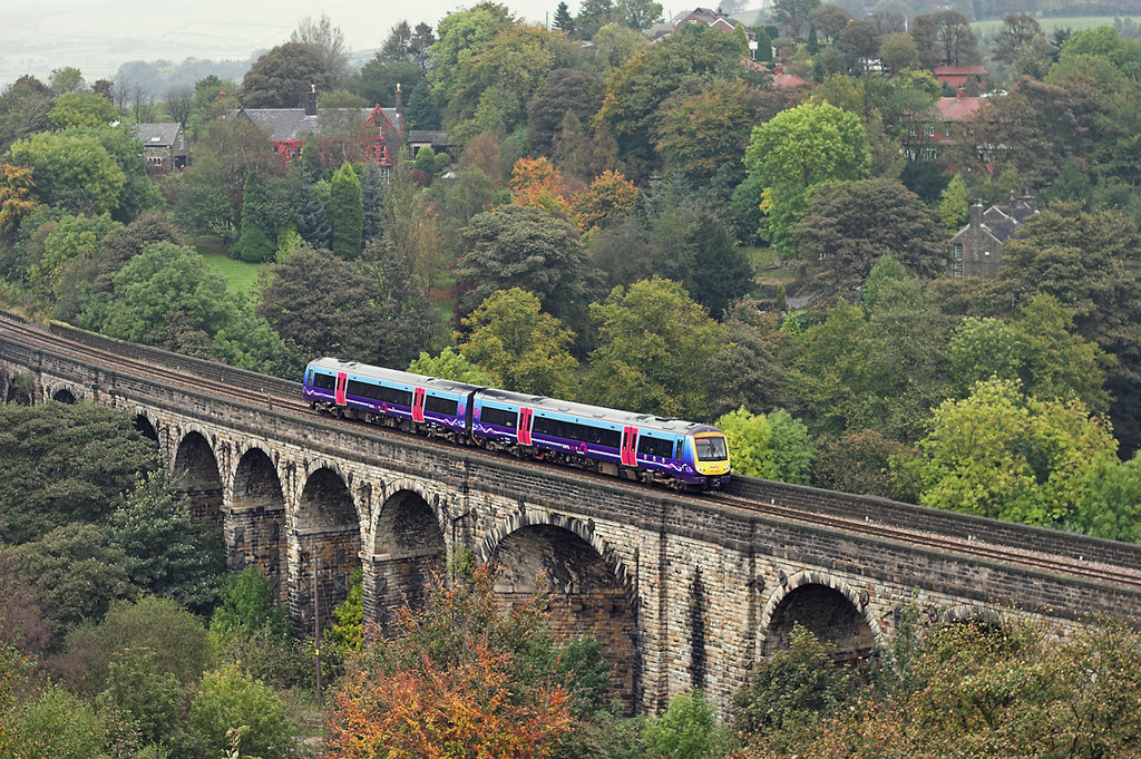 170304 Saddleworth Viaduct 11/10/2007<br /> 1K11 1037 Hull-Manchester Piccadilly
