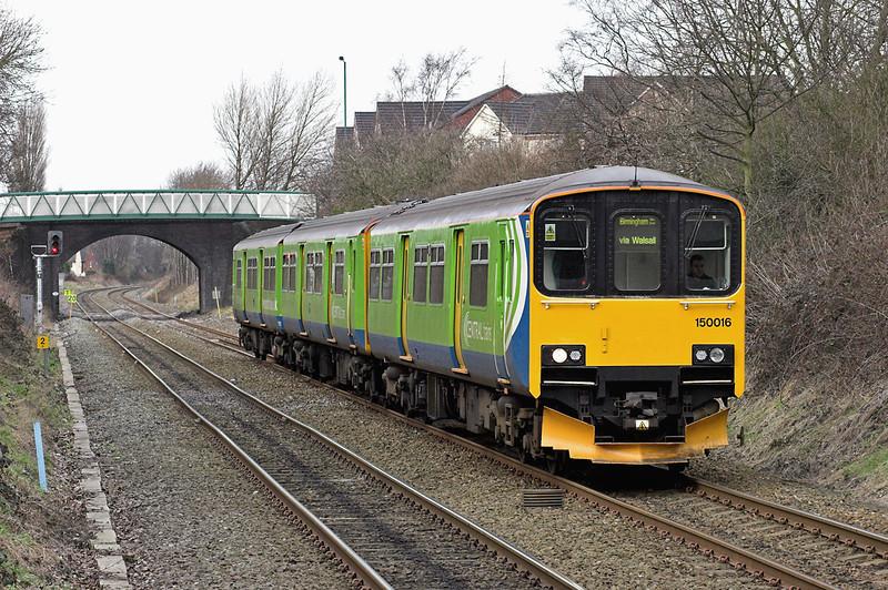 150016 Bloxwich 13/2/2007<br /> 2H15 1336 Stafford-Birmingham New Street