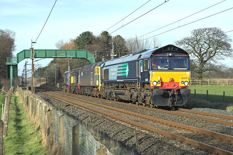 66408, 47501, 20315 and 20307, Brock 14/2/2007<br /> 0P23 1300 Carlisle Kingmoor-Crewe Gresty Lane