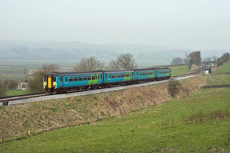 156470 and 156498, Long Preston 14/4/2007<br /> 2H85 0928 Carlisle-Leeds