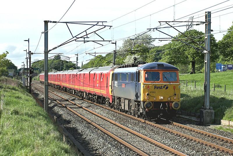 87022, 325012, 325015 and 325013, Woodacre 14/5/2007<br /> 1M44 1531 Sheildmuir-Warrington RMT