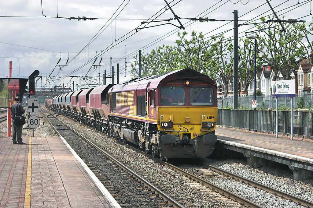 66159 West Ealing 18/6/2007<br /> 6Z20 1015 Whatley Quarry-London St Pancras