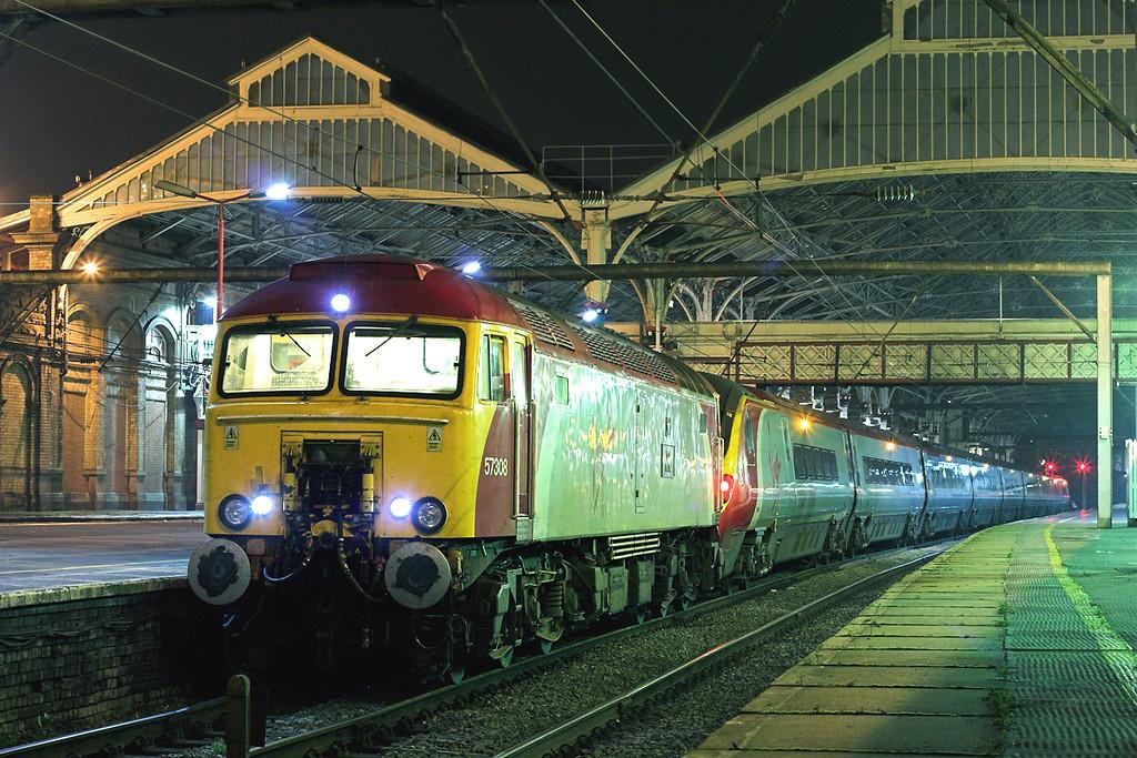57308 and 390029, Preston 20/10/2007<br /> 1P20 1617 London Euston-Preston