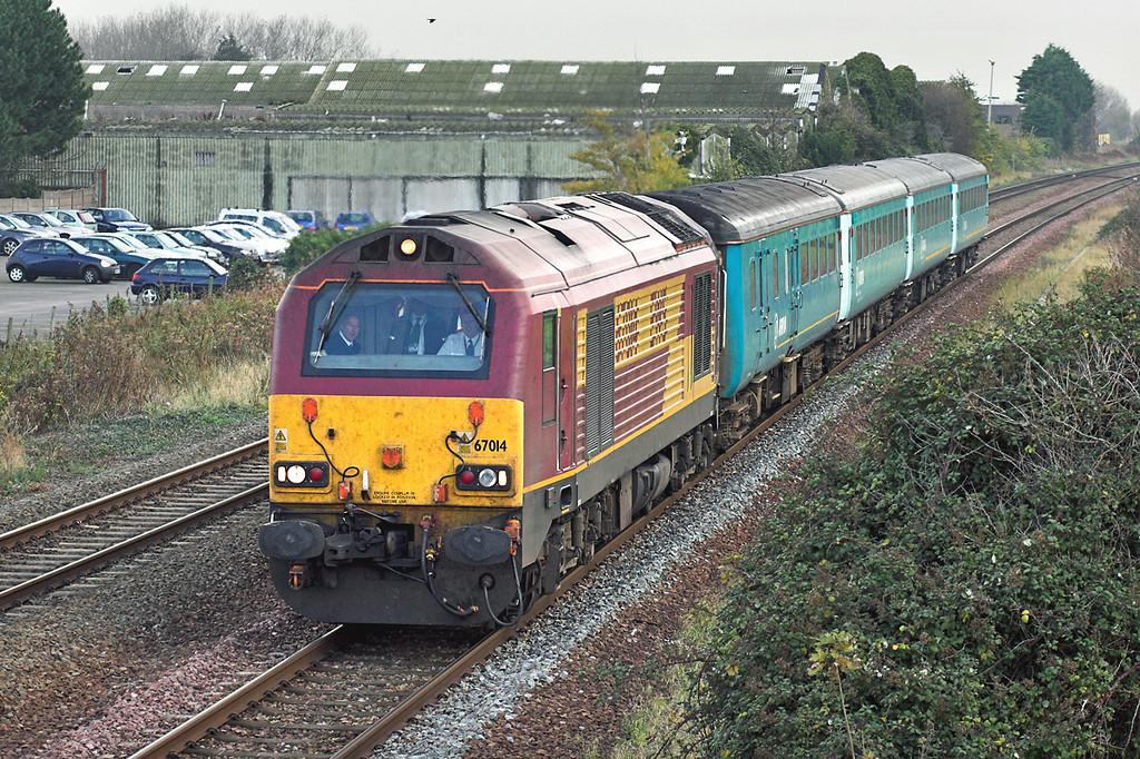 67014 Prestatyn 20/11/2007<br /> 5D67 1009 Crewe CS-Holyhead