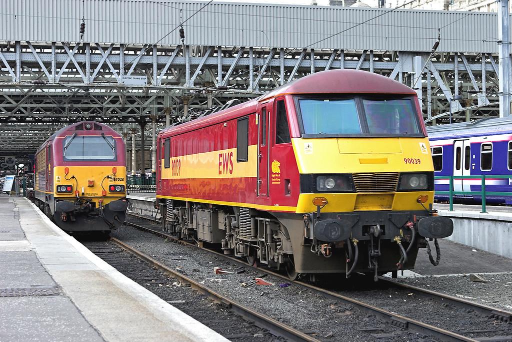 90039 and 67028, Edinburgh 23/3/2007