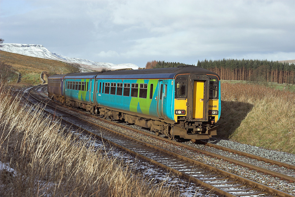 156448 and 153332, Grisedale Crossing 24/1/2007<br /> 2H89 1151 Carlisle-Leeds