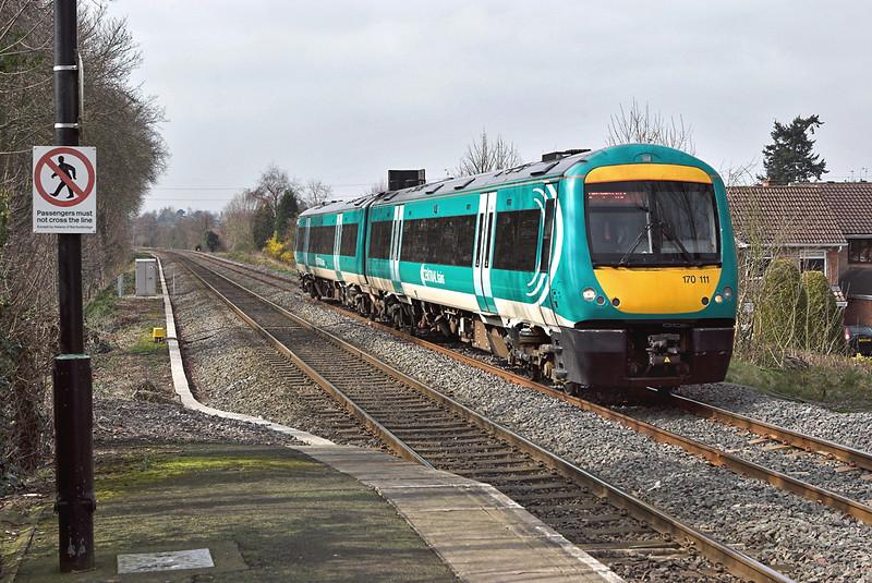 170111 Codsall 24/3/2007<br /> 2G08 1240 Shrewsbury-Birmingham New Street