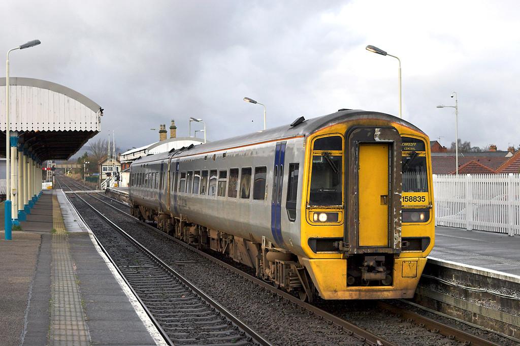 158835 Gobowen 26/1/2007<br /> 1V59 1235 Holyhead-Cardiff Central