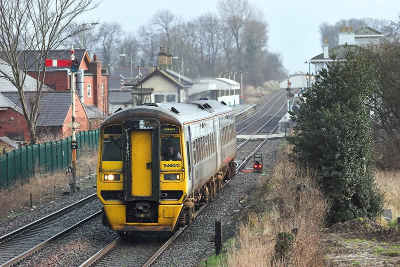 158822 Gobowen 26/1/2007<br /> 1W88 1320 Cardiff Central-Holyhead