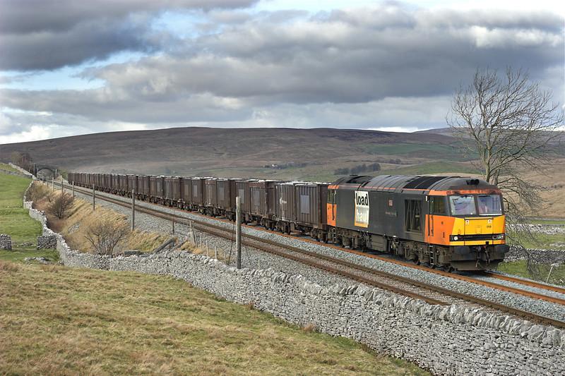 60059 Selside Shaw 26/2/2007<br /> 6E13 1240 Newbiggin-Milford Sidings