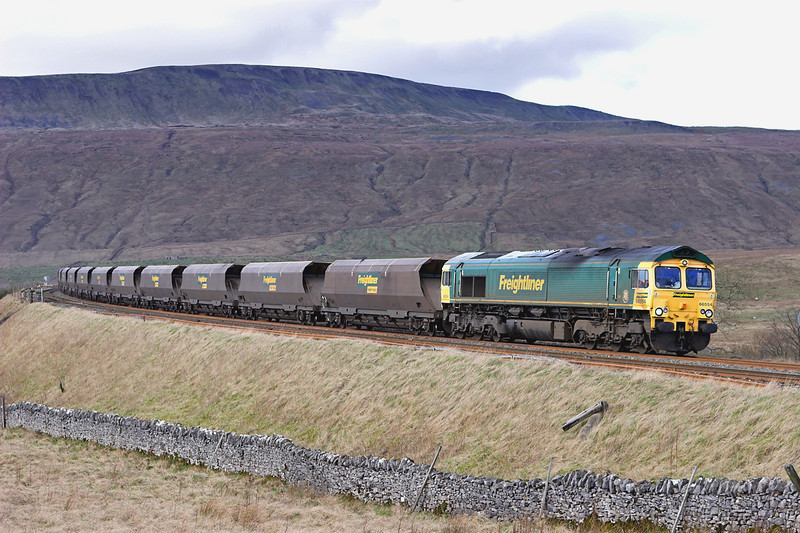 66554 Ribblehead 26/2/2007<br /> 6M11 0606 Hunterston-Fiddlers Ferry PS