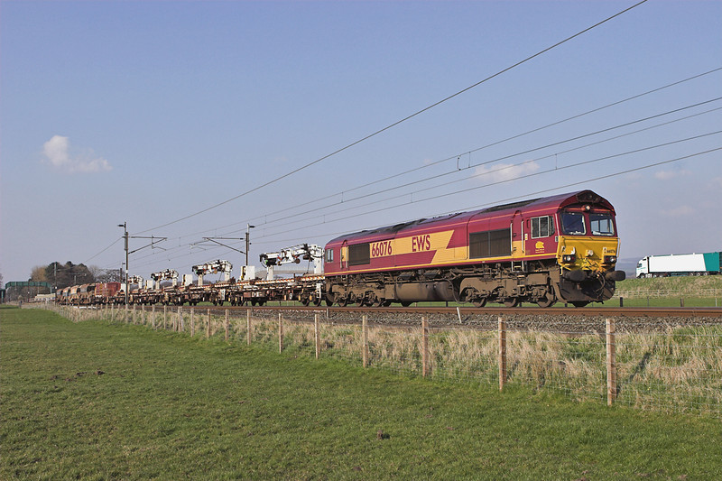 66076 Brock 26/3/2007<br /> 6K05 1322 Carlisle Yard-Basford Hall