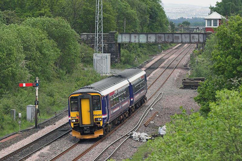156493 Plean Junction 31/5/2007<br /> 2P05 1433 Edinburgh-Dunblane